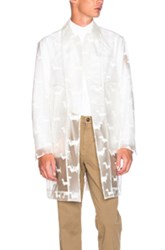 Thom Browne Hector Print Rain Coat In White Animal Print White Animal Print