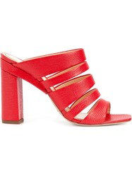 Jerome Rousseau Strappy Mules Red