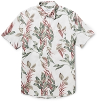 Hentsch Man Printed Cotton Poplin Short Sleeved Shirt White