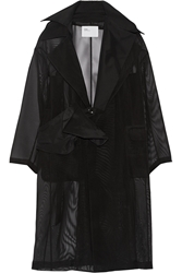 Toga Belted Oversized Tulle Trench Coat