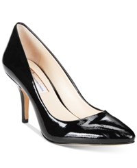 Inc International Concepts Womens Zitah Pointed Toe Pumps Women's Shoes Black Patent