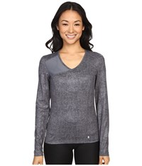 Spyder Ray Top Image Grey Washed Print Image Women's Long Sleeve Pullover Gray