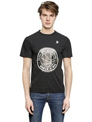 Golden Goose Logo Printed Coated Cotton T Shirt