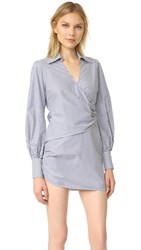 Petersyn Faith Button Down Dress Elephant Blue