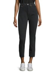 Levi's Wedgie Cropped Raw Edge Jeans Midnight Rain
