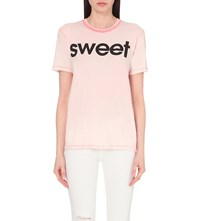 Wildfox Couture Sweet Cotton Jersey T Shirt Grapefruit