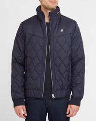 G Star Navy Meefic Quilted Hdd Hooded Down Jacket Blue