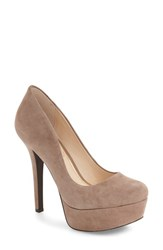 Jessica Simpson Women's 'Meave' Platform Pump Warm Taupe Suede