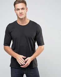 Sisley T Shirt With Back Raglan Detail Black 15F