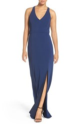 Laundry By Shelli Segal Women's Racerback Jersey Gown Midnight