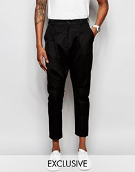 Unplugged Museum Crop Trouser With Pleat Detail Black