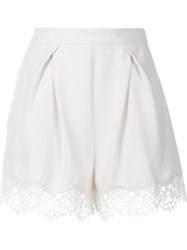 Zimmermann Lace Tuck Shorts White