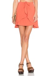 For Love And Lemons Sweet Jane Wrap Skirt Orange