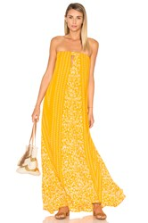 Indah Sail Printed Strapless Maxi Dress Orange