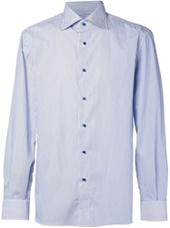 Isaia Striped Shirt Blue