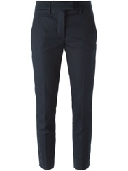 Dondup Slim Cropped Trousers Blue