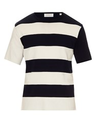 Tomorrowland Striped Cotton T Shirt Navy White