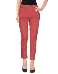 Good Mood Casual Pants Brick Red