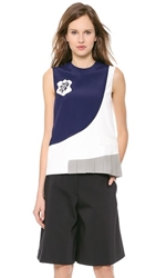 Viktor And Rolf Sleeveless Top White Grey Blue