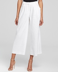 Lafayette 148 New York Pleat Front Gaucho Pants Bloomingdale's Exclusive White