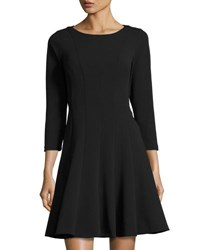 Catherine Malandrino Scallop Back Fit And Flare Dress Black