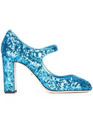Dolce And Gabbana 'Coco' Mary Jane Pumps Blue