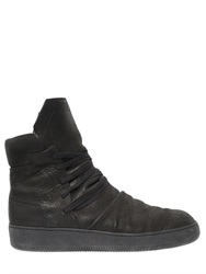 Alexandre Plokhov Wrinkled Leather High Top Sneakers