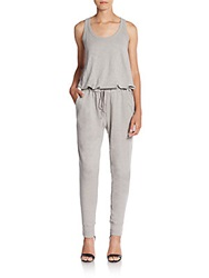 Wilt Tank Slub Cotton Jumpsuit Pewter