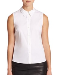 A.L.C. Lafayette Twist Back Shirt White
