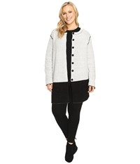 Nic Zoe Plus Size Bold Block Coat Black Mix Women's Coat