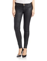 Guess Faux Leather Leggings Blue