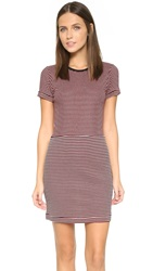 Edith A. Miller Combo Mini Dress Black Red Natural