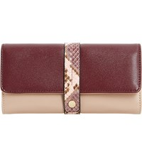 Dune Karys Purse Pink Reptile Synthetic