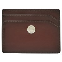Reiss Chemson Premium Leather Card Holder Oxblood