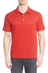 The North Face Men's 'Alpine Start' Flashdry Stretch Jersey Polo Pompeian Red