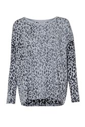 Great Plains Animal Instinct Slouchy Top Grey