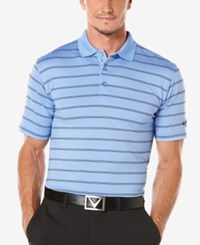 Callaway Men's Big And Tall Ventilated Striped Polo Provence