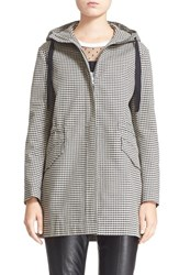 Women's Red Valentino Hooded Houndstooth Jacket