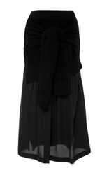 Joseph Long Sleeve Midi Skirt Black
