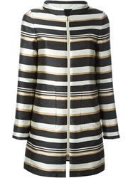 Herno Striped Coat Black