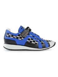 Pierre Hardy Graphic Print Panelled Sneakers Black