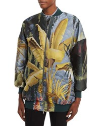 Adam By Adam Lippes Tropical Print Bomber Jacket Multi Multi Colors