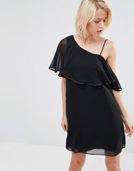 Lavand One Flutter Sleeve Dress In Black Black