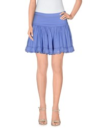 Galliano Skirts Mini Skirts Women Pastel Blue
