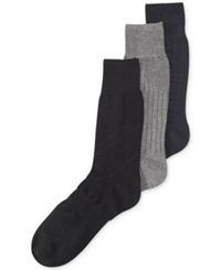 Perry Ellis Men's Comfort Fit Non Binding Dress Crew Socks 3 Pack