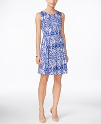 Charter Club Scroll Print Fit And Flare Dress Only At Macy's