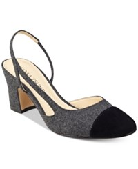 Ivanka Trump Liah Slingback Block Heel Pumps Women's Shoes Dark Grey