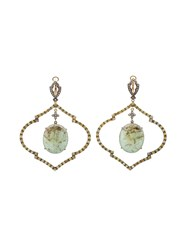 Loree Rodkin Diamond And Emerald Chandelier Earrings Yellow And Orange