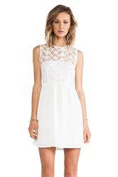 Mm Couture By Miss Me Lace Top Dress White