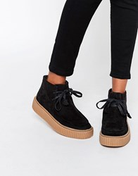 Asos Anyan Creeper Lace Up Boots Black
